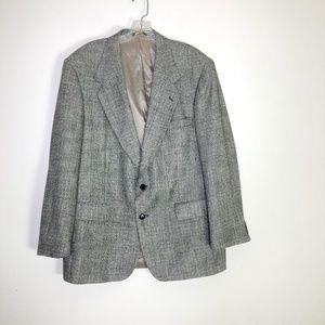 FARAH CLOTHING CO. Black Button Front Blazer ~42R